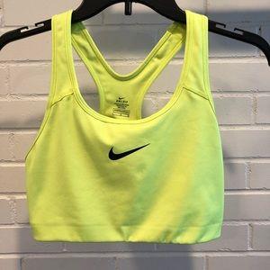 Nike Classic Neon Sports Bra, Large